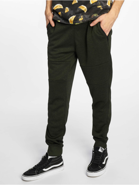 Southpole Sweat Pant Marled Tech Fleece Pants olive