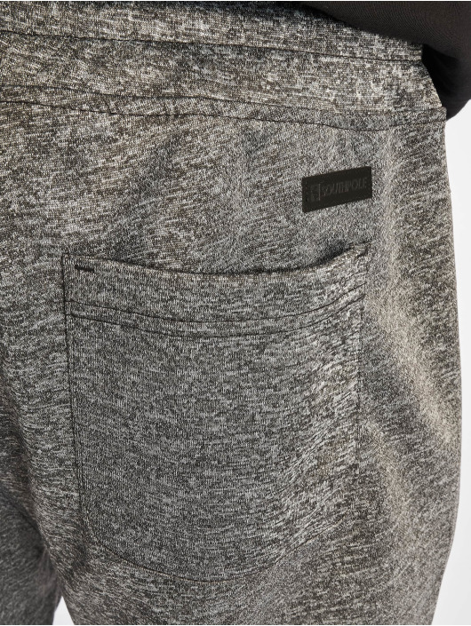 Southpole Szorty Zipper Pocket Marled Tech Fleece szary
