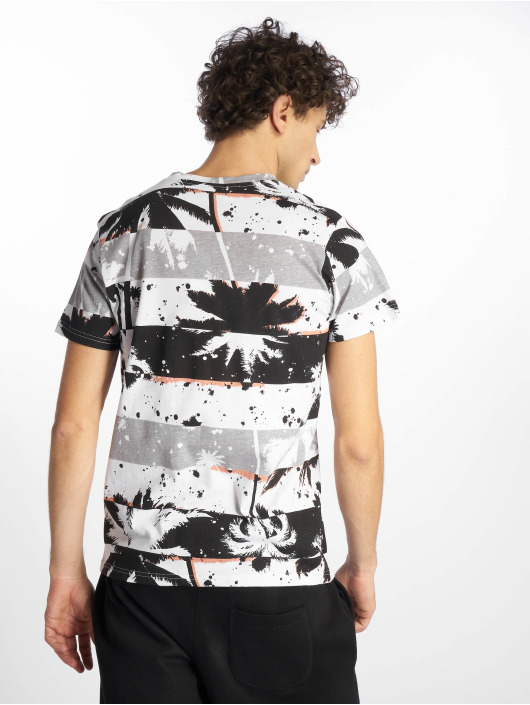 Southpole T-Shirt Palm Tree Stipe Print black