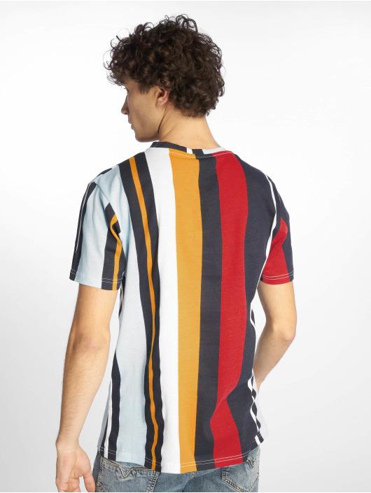 Southpole T-Shirt Vertical Stripe Print bleu