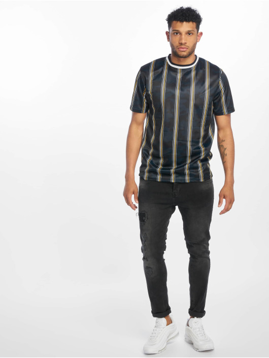 Southpole T-Shirt Thin Vertical Stripes bleu