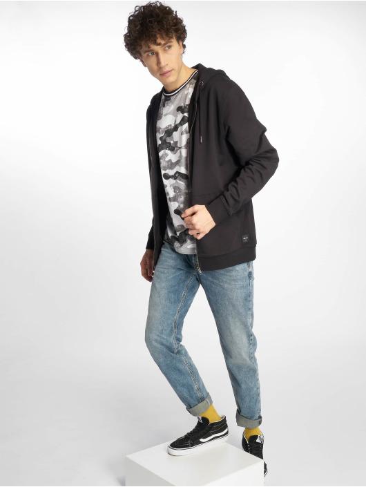 Southpole T-shirt Camo & Splatter Print grå