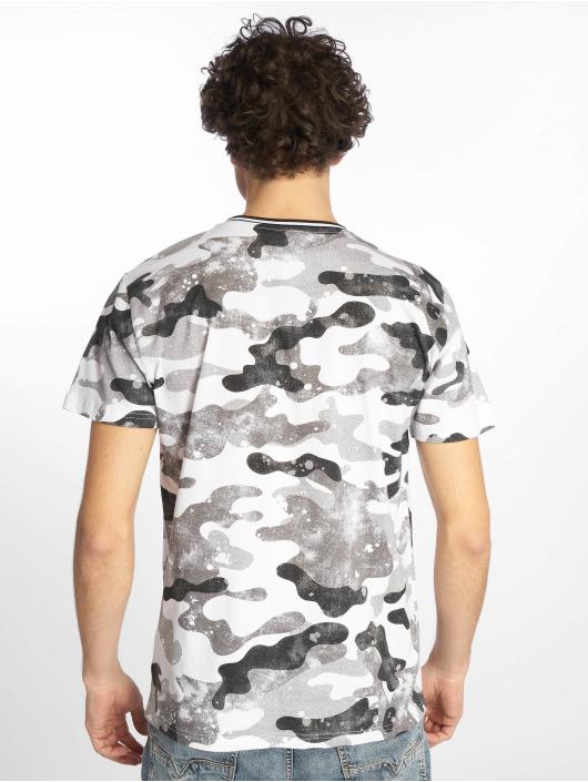 Southpole T-Shirt Camo & Splatter Print grau