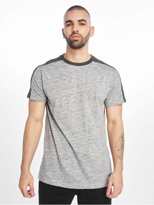 Southpole T-Shirt Shoulder Panel Tech grau