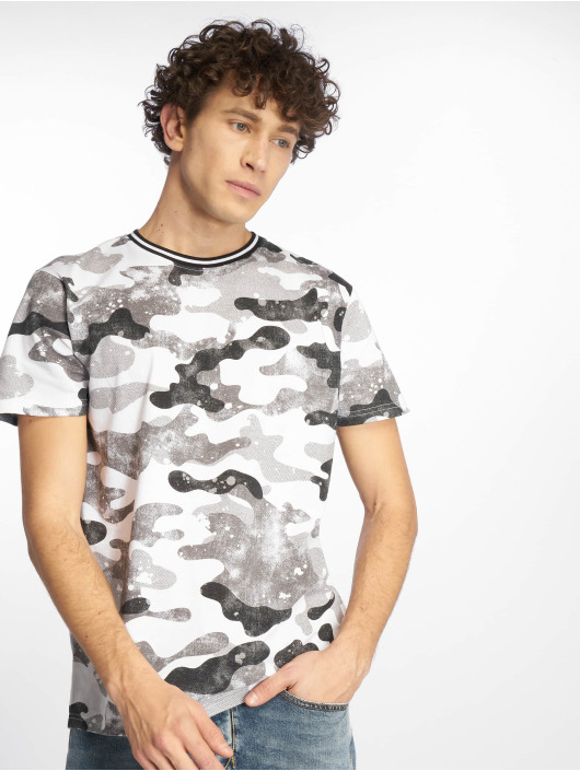 Southpole T-Shirt Camo & Splatter Print gray