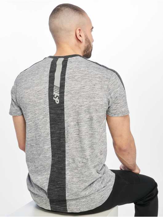 Southpole T-shirt Shoulder Panel Tech grigio