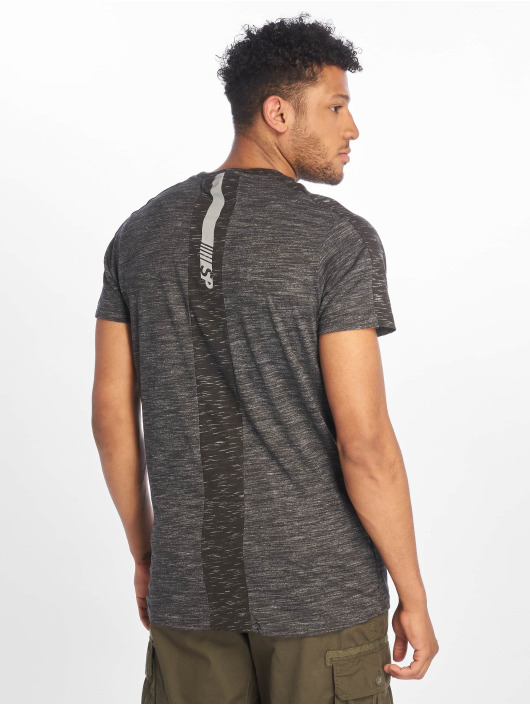 Southpole T-Shirt Shoulder Panel Tech gris