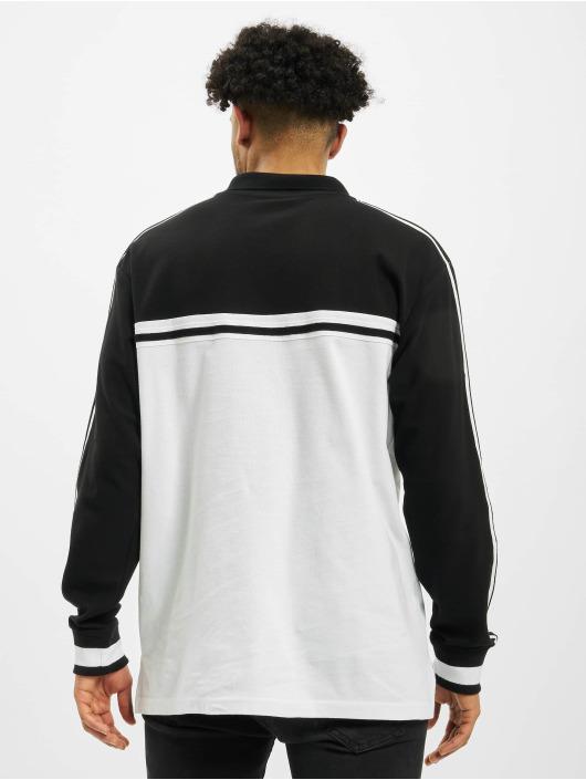 Southpole T-Shirt manches longues Logo Tape blanc