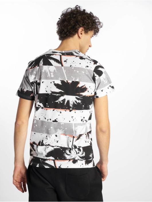 Southpole T-Shirt Palm Tree Stipe Print noir