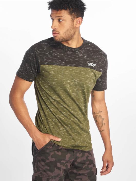 Southpole T-shirt Color Block Tech oliv
