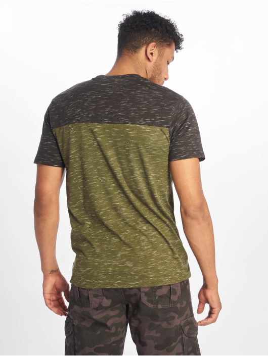 Southpole T-Shirt Color Block Tech olive