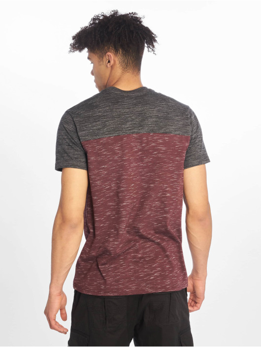 Southpole T-shirt Color Block Tech rosso