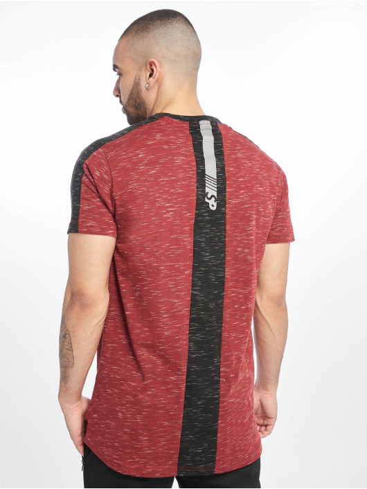Southpole T-shirt Shoulder Panel Tech rosso