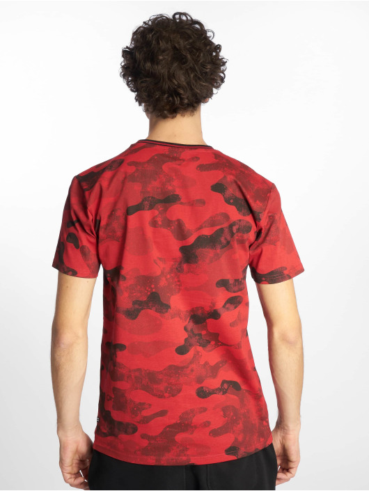 Southpole T-Shirt Camo & Splatter Print rot
