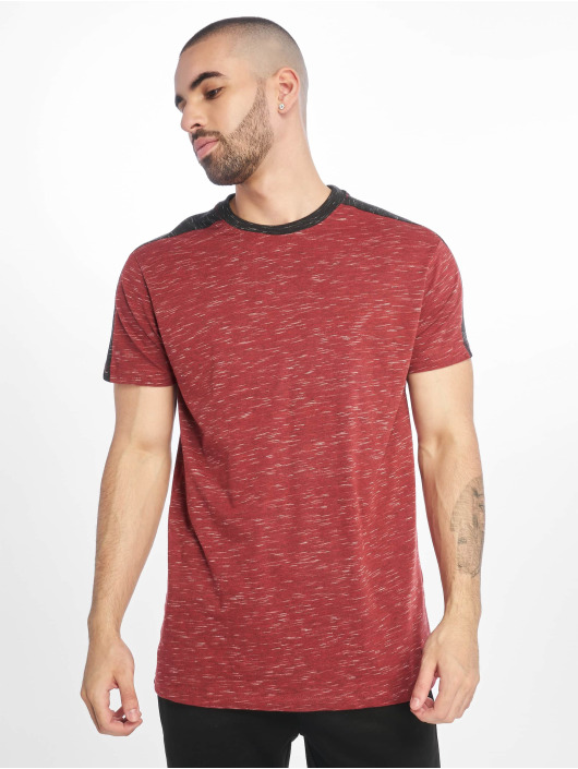 Southpole T-Shirt Shoulder Panel Tech rouge