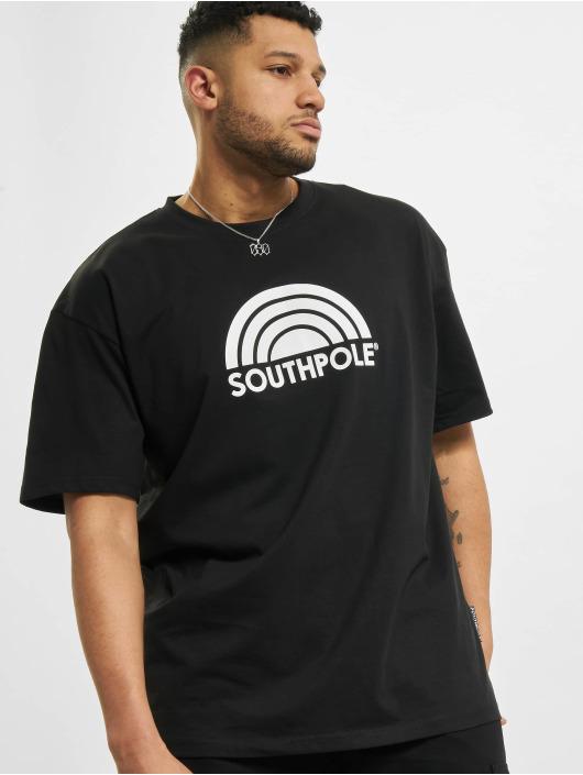Southpole T-Shirt Logo schwarz