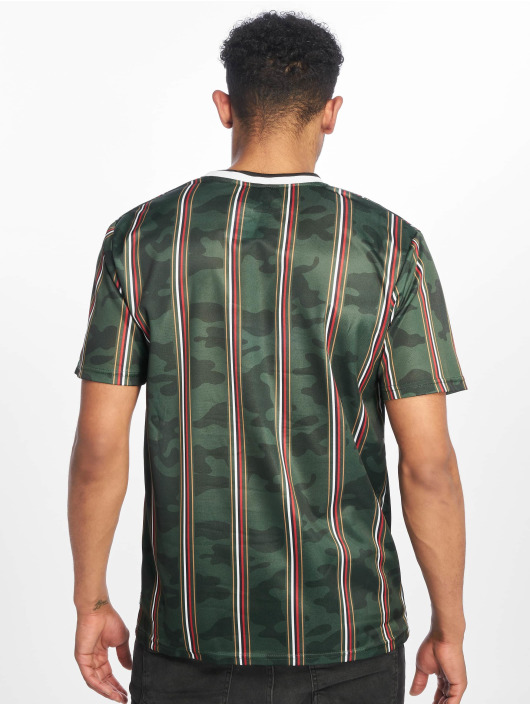 Southpole T-shirt Thin Vertical Stripes verde