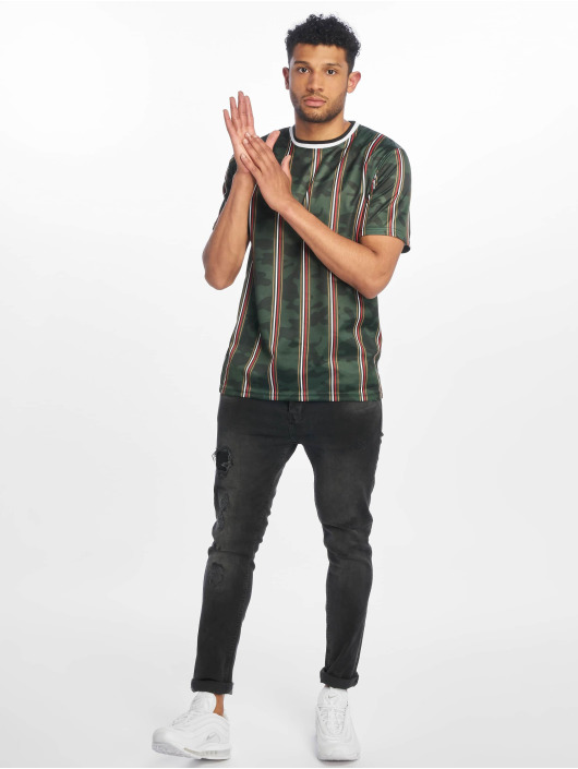 Southpole T-Shirt Thin Vertical Stripes vert