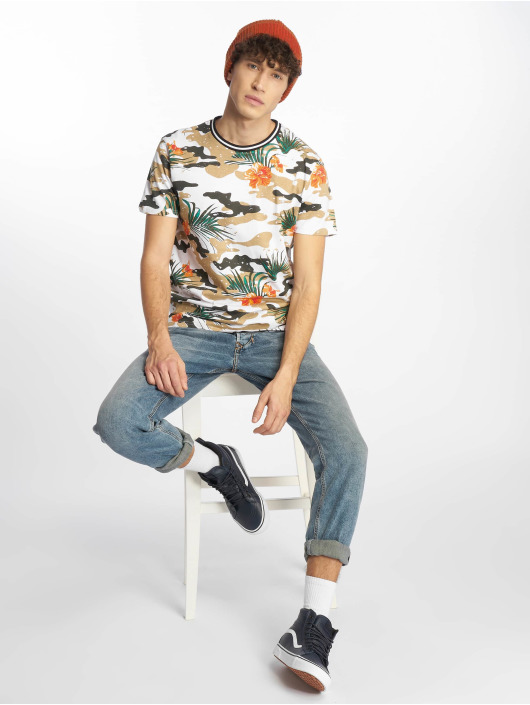 Southpole T-shirt Tropical Camo vit
