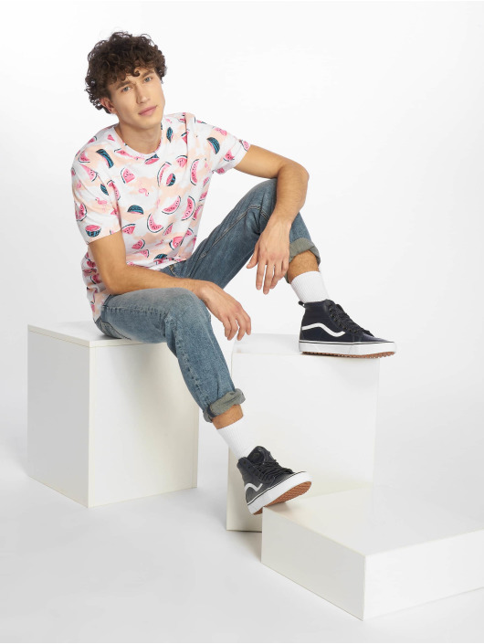 Southpole T-Shirt Watermelon & Flamingo Print weiß