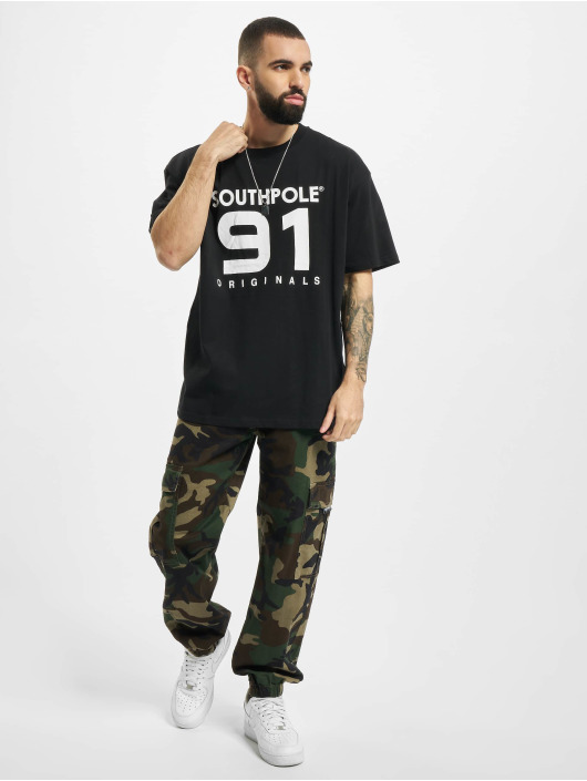 Southpole t-shirt 91 zwart