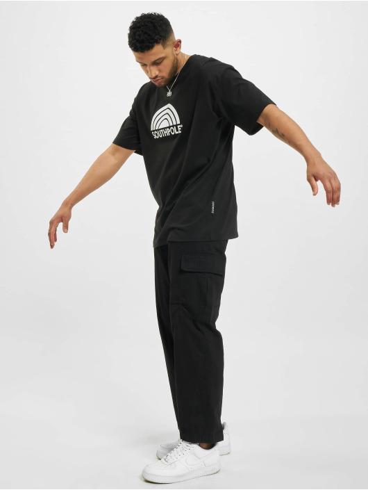 Southpole t-shirt Logo zwart