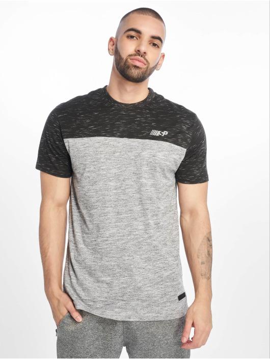 Southpole T-shirts Color Block Tech grå