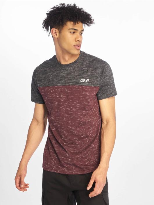 Southpole T-shirts Color Block Tech rød