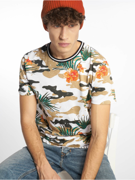 Southpole T-Shirty Tropical Camo bialy