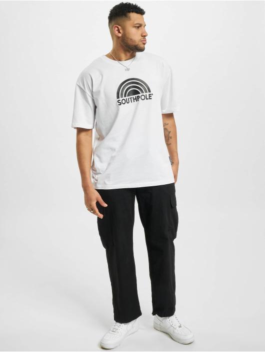 Southpole T-Shirty Logo bialy