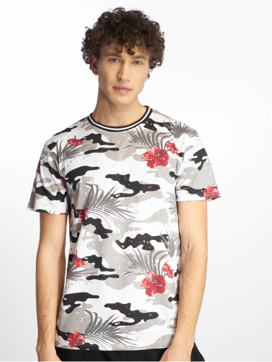 Southpole T-Shirty Tropical Camo Print czarny