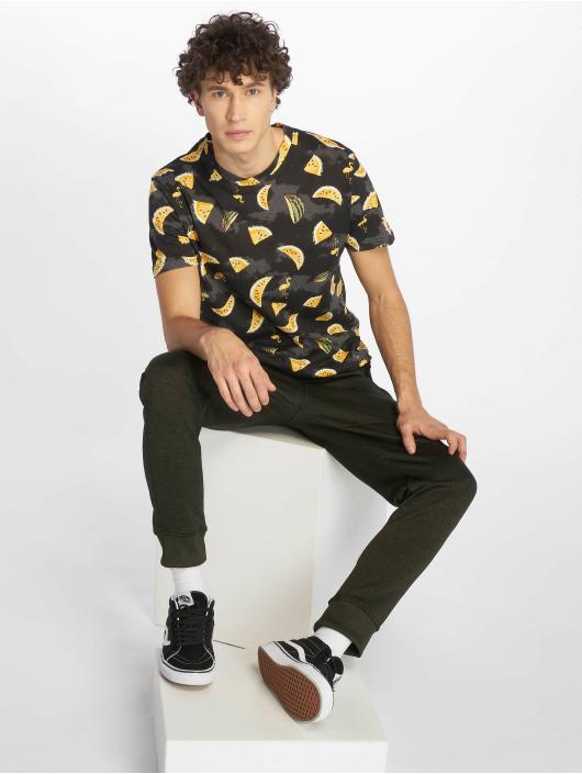 Southpole T-Shirty Watermelon & Flamingo Print czarny