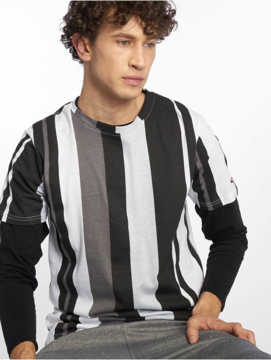 Southpole T-Shirty Vertical Stripe czarny