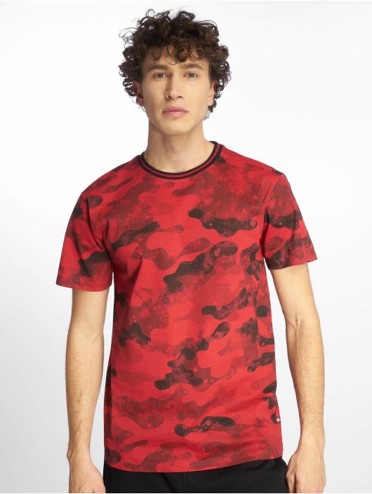 Southpole T-Shirty Camo & Splatter Print czerwony