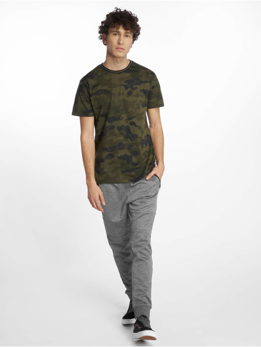 Southpole T-Shirty Camo & Splatter Print moro