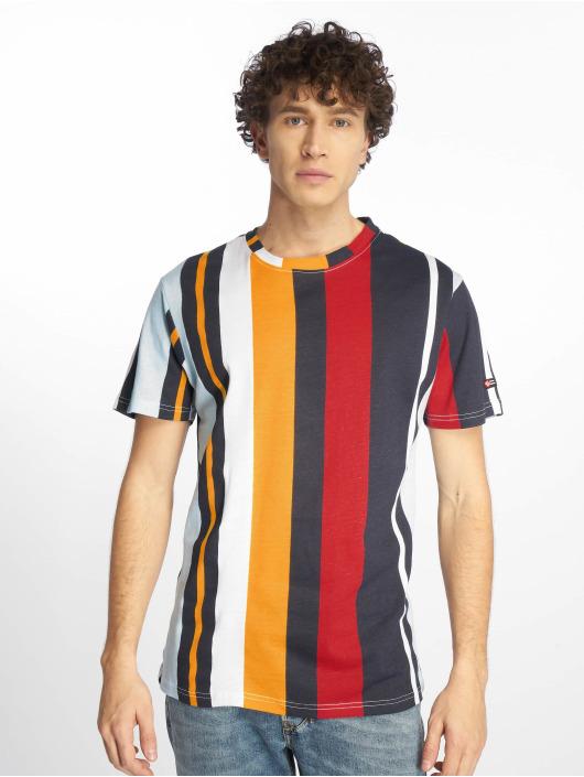 Southpole T-Shirty Vertical Stripe Print niebieski