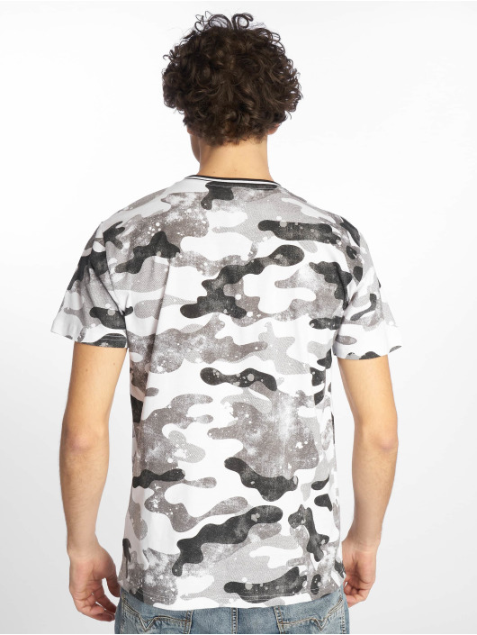 Southpole T-Shirty Camo & Splatter Print szary