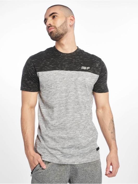 Southpole T-Shirty Color Block Tech szary