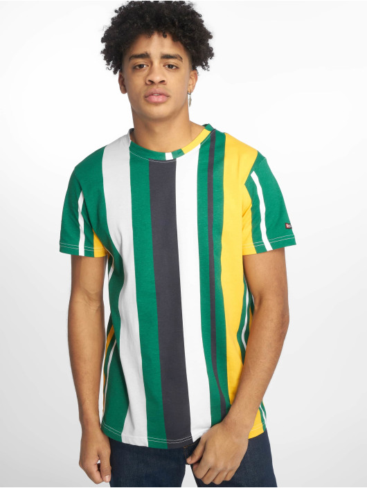 Southpole T-Shirty Vertical Stripe Print zielony