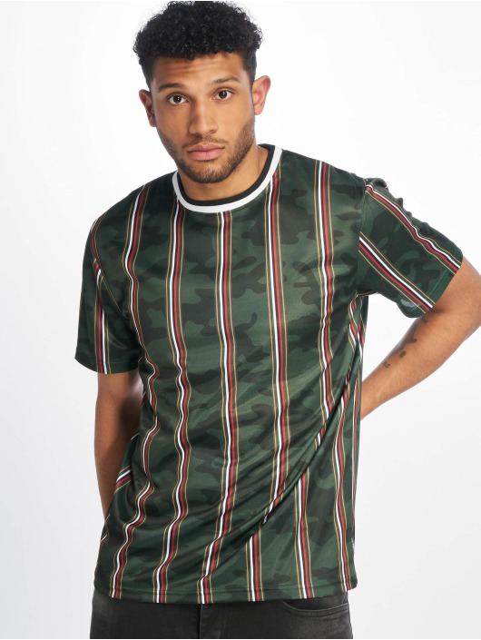 Southpole T-Shirty Thin Vertical Stripes zielony