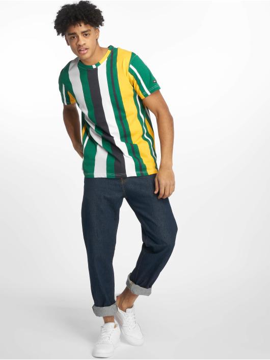 Southpole T-skjorter Vertical Stripe Print grøn