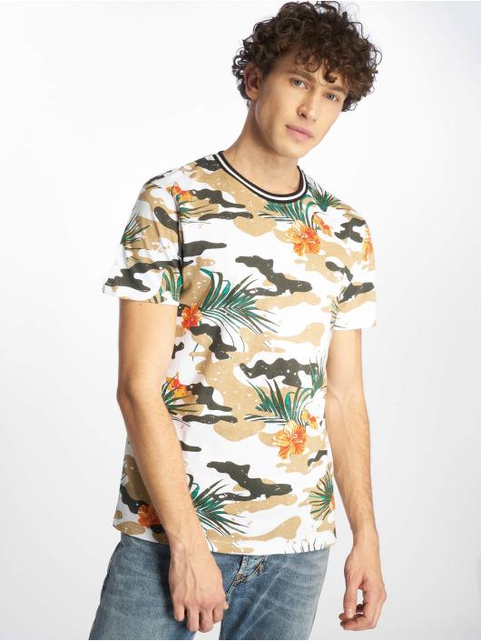 Southpole T-skjorter Tropical Camo hvit