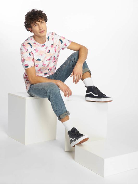 Southpole T-skjorter Watermelon & Flamingo Print hvit