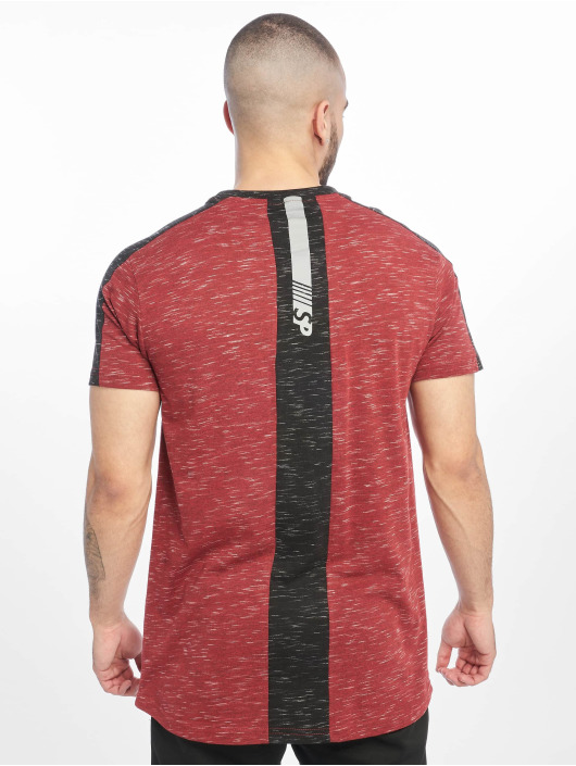Southpole T-skjorter Shoulder Panel Tech red
