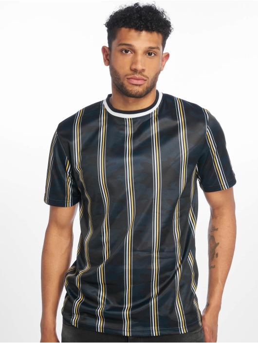 Southpole Tričká Thin Vertical Stripes modrá