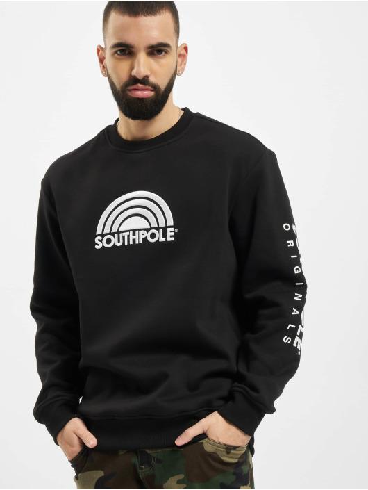 Southpole trui Halfmoon zwart