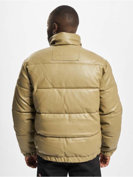 Southpole Winter Jacket Imitation Leather Bubble khaki