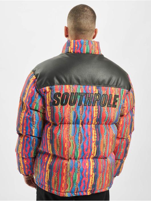 Southpole Winterjacke Pattern bunt