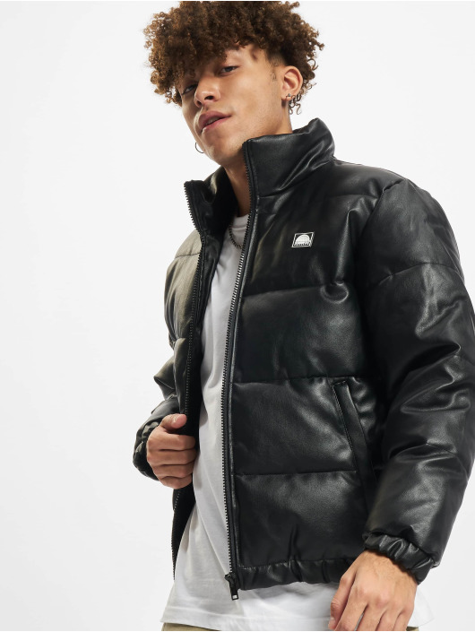 Southpole winterjas Imitation Leather Bubble zwart