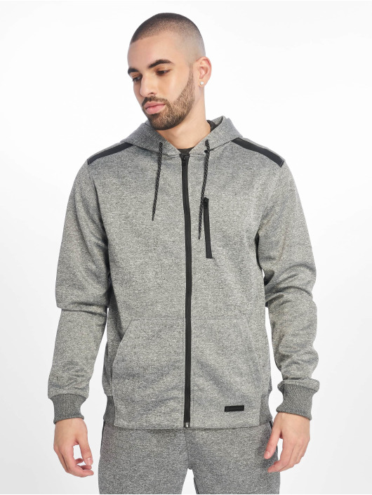 Southpole Zip Hoodie Tech Fleece šedá
